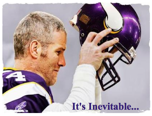 brett favre vikings celebrating. +1